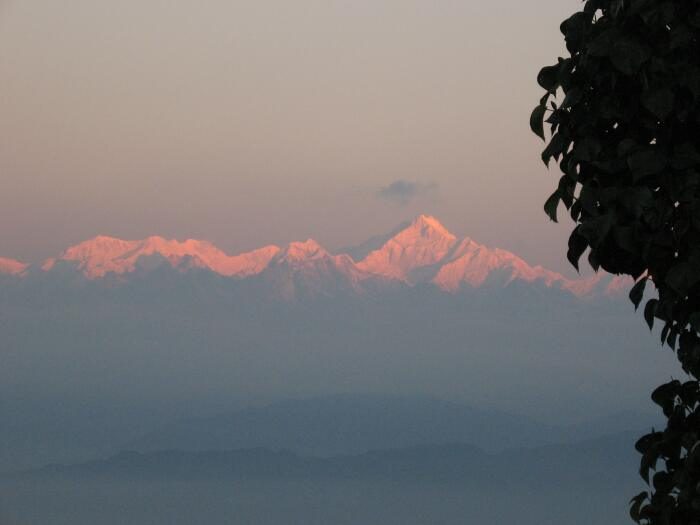 Mount Kanchendzonga during sunrise